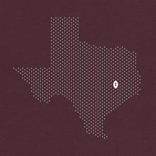 Load image into Gallery viewer, College Station, Texas Football Map Stats T-Shirt, Maroon