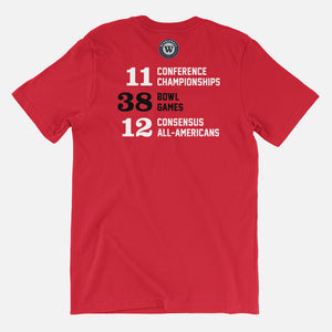 TECH Football Stats T-Shirt (Texas), Red