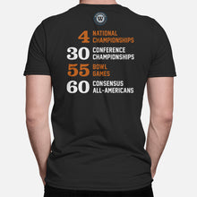 Load image into Gallery viewer, Horns Football Stats T-Shirt, Black