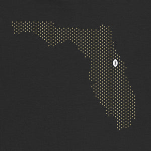 Orlando, Florida Football Map Stats T-Shirt