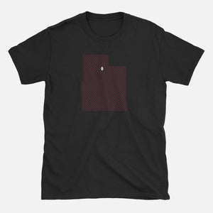 Salt Lake City, Utah Football Map T-Shirt, Black