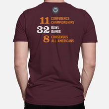 Load image into Gallery viewer, Blacksburg, Virginia Football Map Stats T-Shirt, Maroon