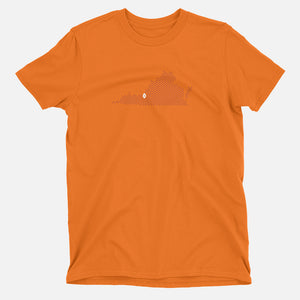 Blacksburg, Virginia Football Map T-Shirt, Orange