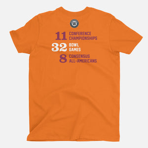 Blacksburg, Virginia Football Map Stats T-Shirt, Orange