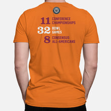 Load image into Gallery viewer, Blacksburg, Virginia Football Map Stats T-Shirt, Orange