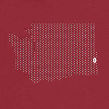 Load image into Gallery viewer, Pullman, Washington Football Map Stats T-Shirt, Independence Red