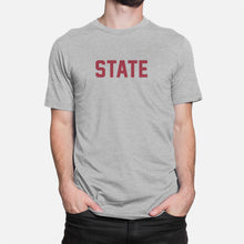 Load image into Gallery viewer, STATE Football Stats T-Shirt (Washington), Heather Gray
