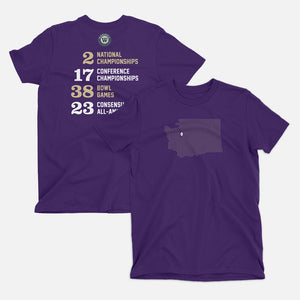 Seattle, Washington Football Map Stats T-Shirt