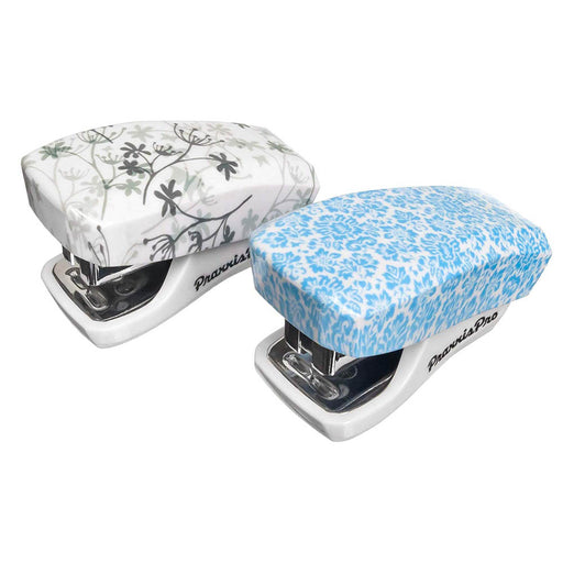 Built in Staple Remover Staples 2 to 18 Sheets. PraxxisPro Mini Staplers Blue, Pink, Purple, Green