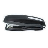 PraxxisPro Office Essentials - Basileus Full-Strip Ergonomic Grip Handheld Desktop Stapler - Black Nickel