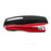PraxxisPro Office Essentials - Basileus Full-Strip Ergonomic Grip Handheld Desktop Stapler - Fire Red