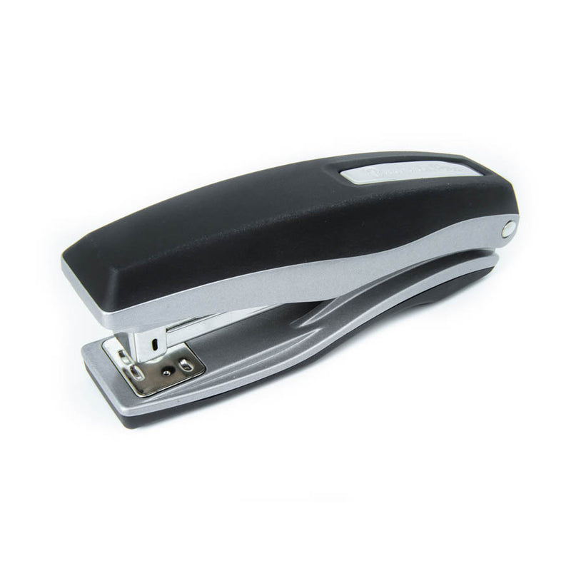 PraxxisPro Office Essentials - Basileus Full-Strip Ergonomic Grip Handheld Desktop Stapler - Glacier Grey