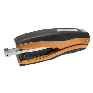 PraxxisPro Office Essentials - Basileus Full-Strip Executive Desktop Stapler - Crystal Copper