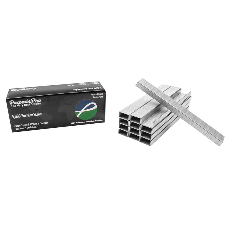 PraxxisPro Office Essentials - Premium Standard Silver Staples