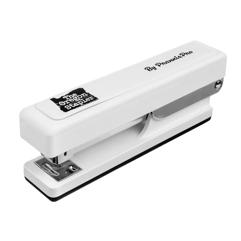 The Oregon Stapler, our white desktop stapler is proudly made in America.