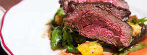 Seared Rib Steak with Arugula