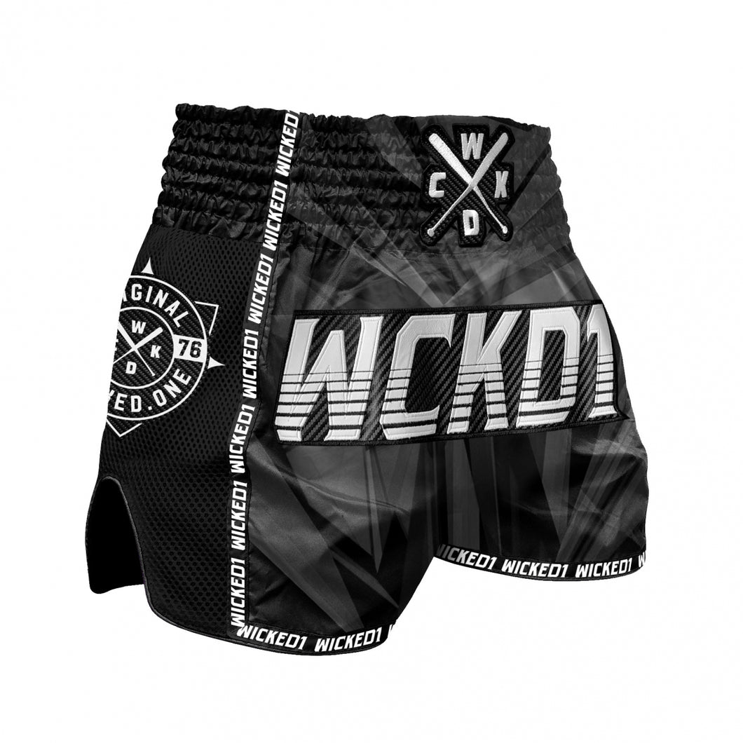 UNISEX-SHORT MUAYTHAI SHORT BLACK DIAMOND - BLACK