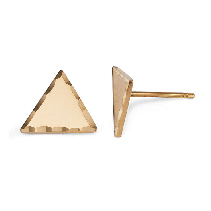 Textured Triangle Stud Earrings