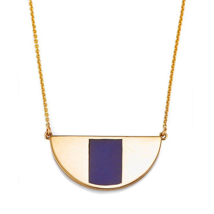 Eye Necklace with Lapis Inlay