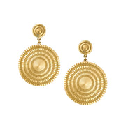 Stella Circle Drop Earrings