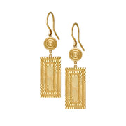Stella Rectangle Drop Earrings