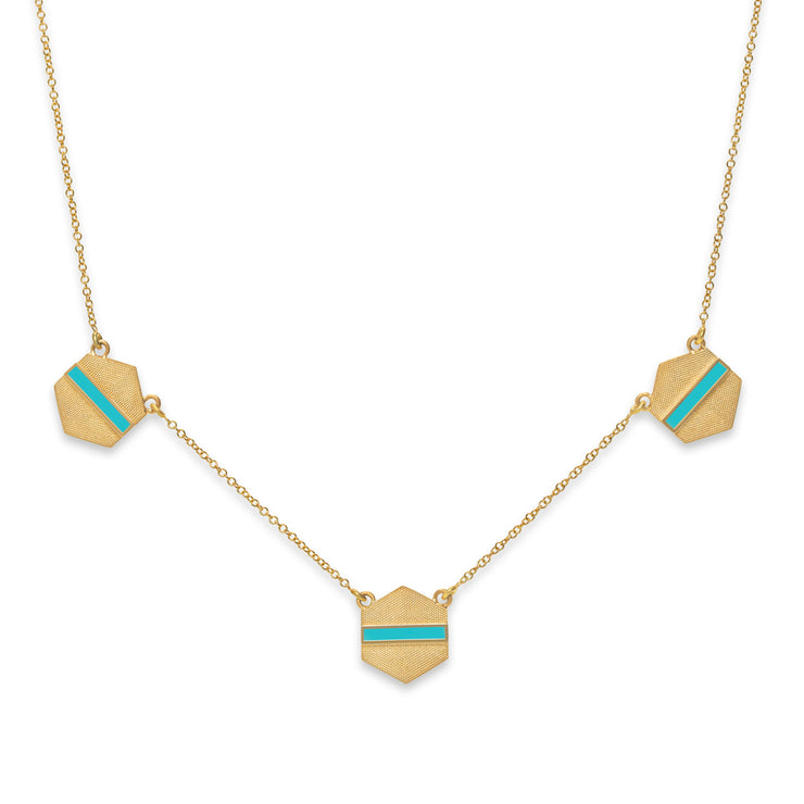 Retro Hex Necklace
