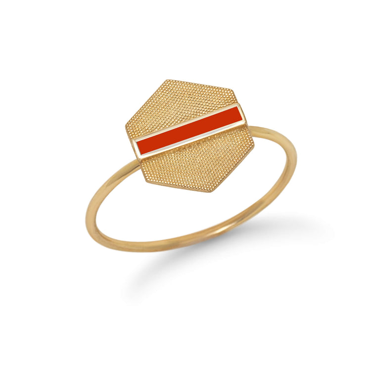 Retro Hex Ring