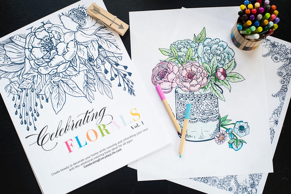 Celebrating Florals vol. 1 coloring book