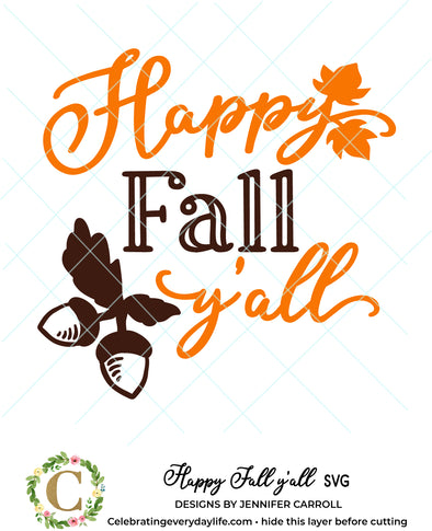 Happy Fall y'all SVG