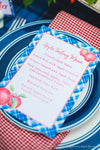 Apple Themed Menus & Place Cards