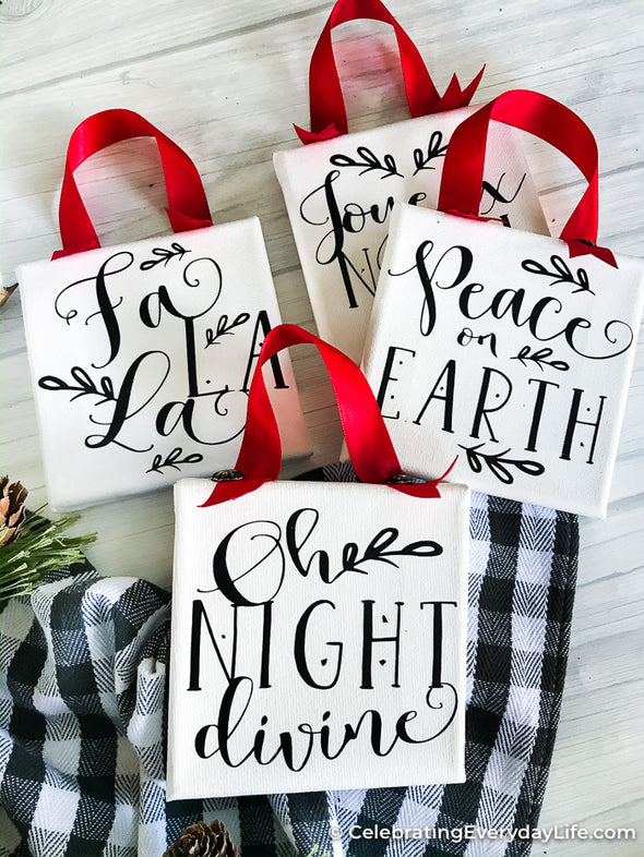 Oh Night Divine Mini Farmhouse Phrase SVG