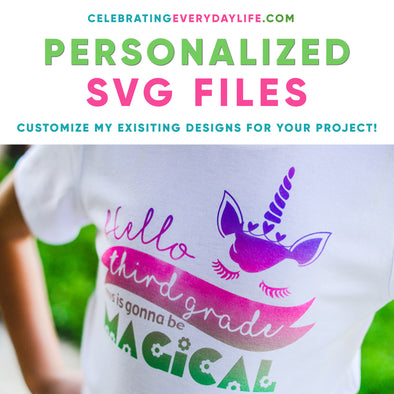 Personalized SVG files