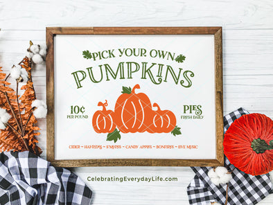 Pick Your Own Pumpkins SVG