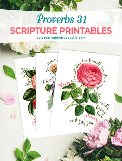 Proverbs 31 Scripture Printable set