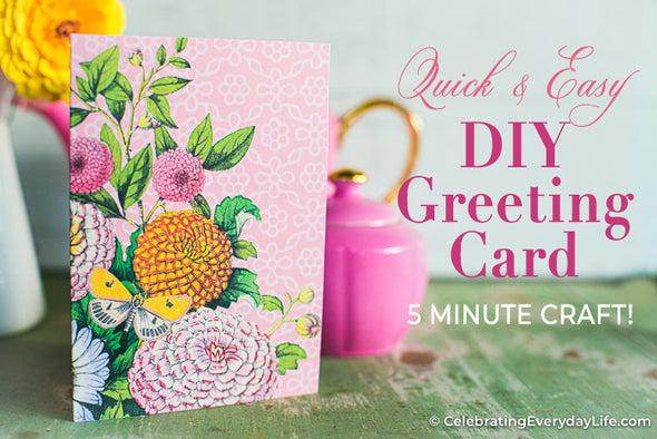 Summer Blooms DIY Greeting Card Printable