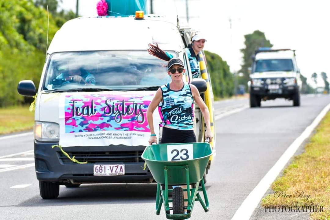 The Great Wheelbarrow Race 2019 Teal Sisters Wheelbarrow Race Team
