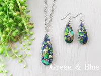 Stone & Resin Matching Necklace & Earring Sets