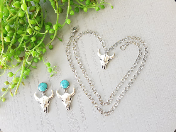 Turquoise Matching Necklace & Earring Sets