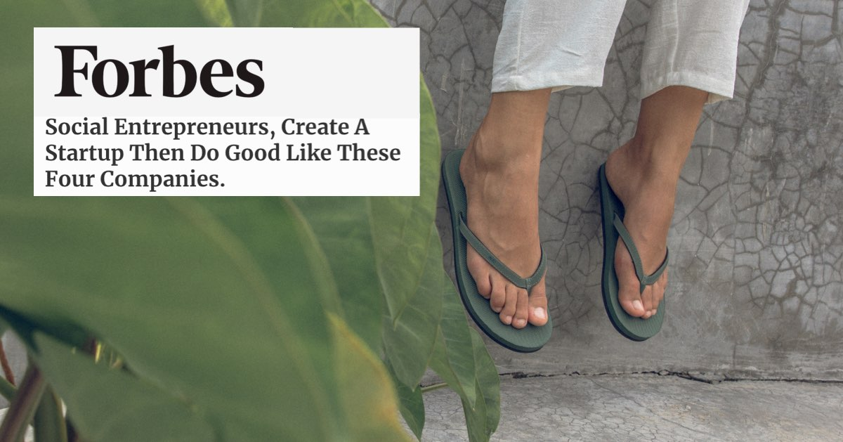 Forbes feature Indosole Flip Flop brand as a Business For Good