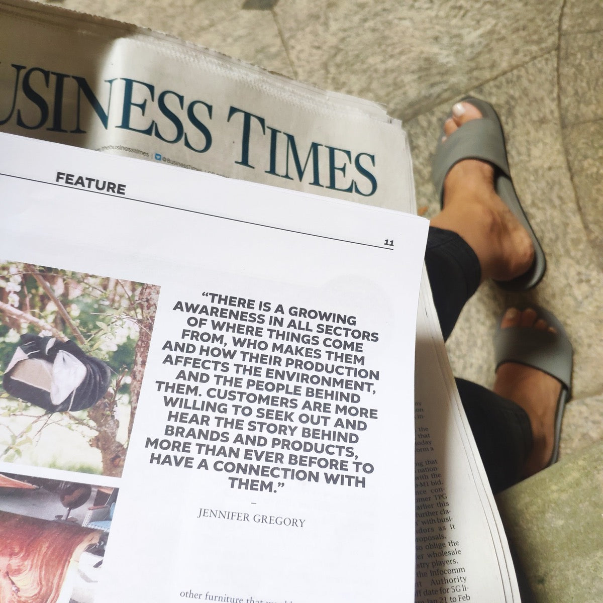 Indosole Shoes Featured in The Business Times