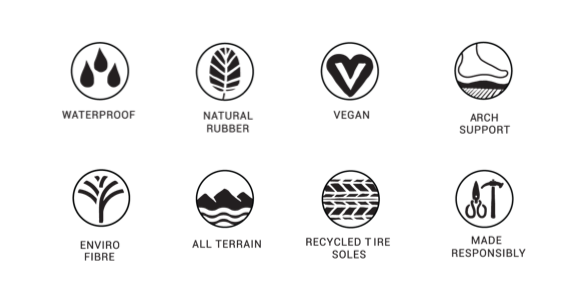 Indosole Shoes are waterproof and made responsibly with natural rubber, vegan uppers, recycled tyre soles.