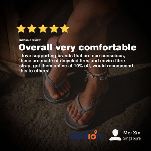 Indosole Singapore review by abillionveg member - Womens Flip Flops in Granite