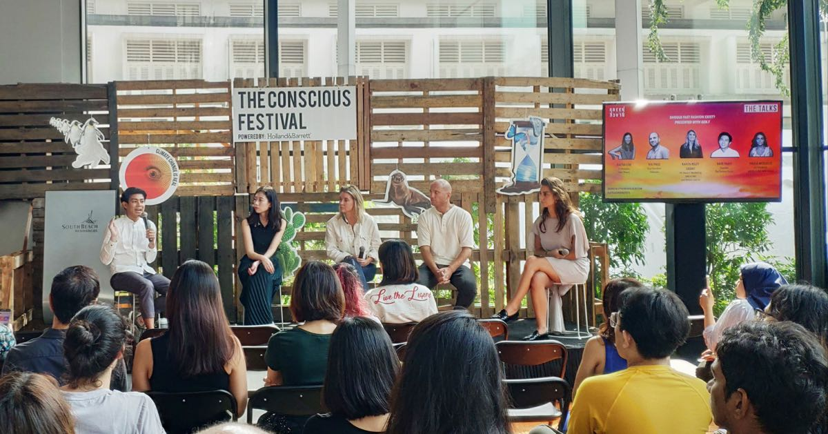 Kai Paul from Indosole at the Talks on Fast Fashion at this year's Conscious Festival in Singapore
