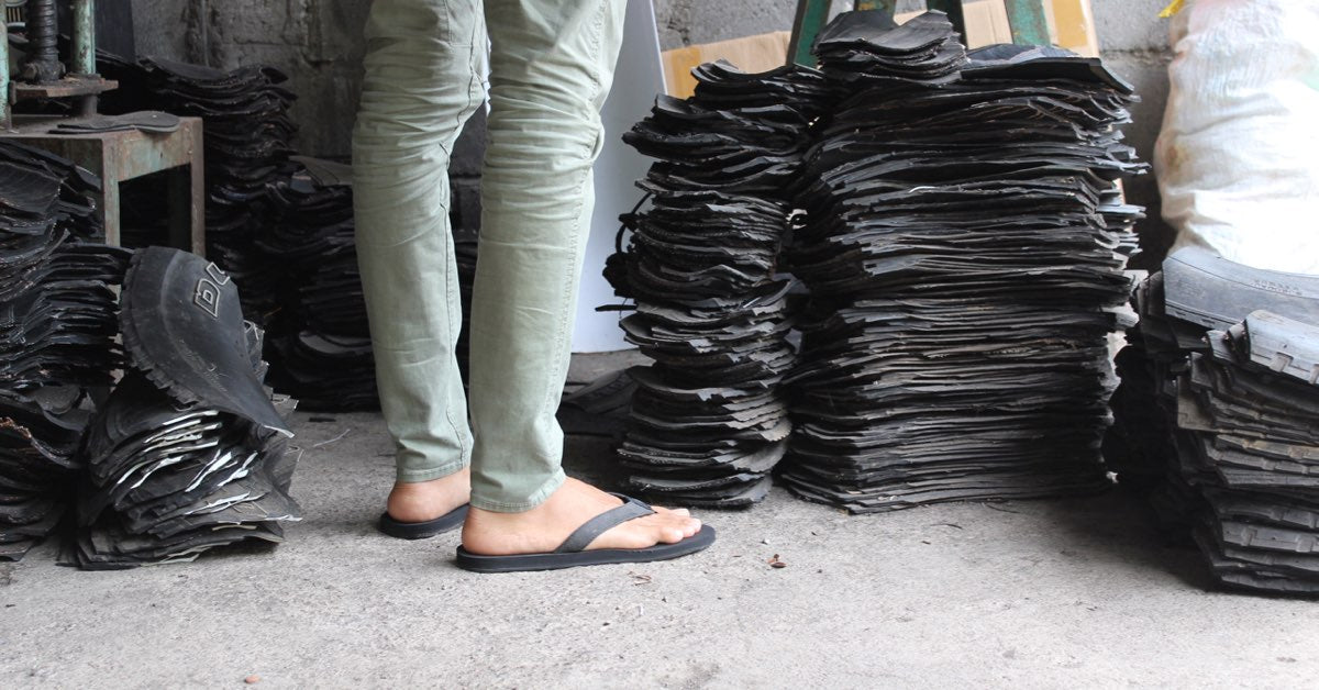 Flip Flops in Singapore made from recycled tires