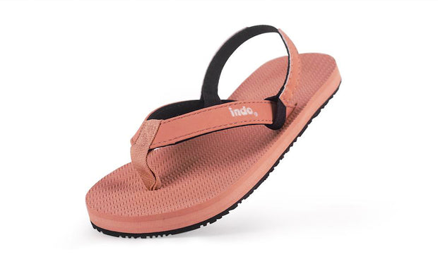 Toddler's Flip Flops Rust - Lightweight, durable, waterproof, comfortable. Sustainably made vegan shoes using natural rubber and recycled tires