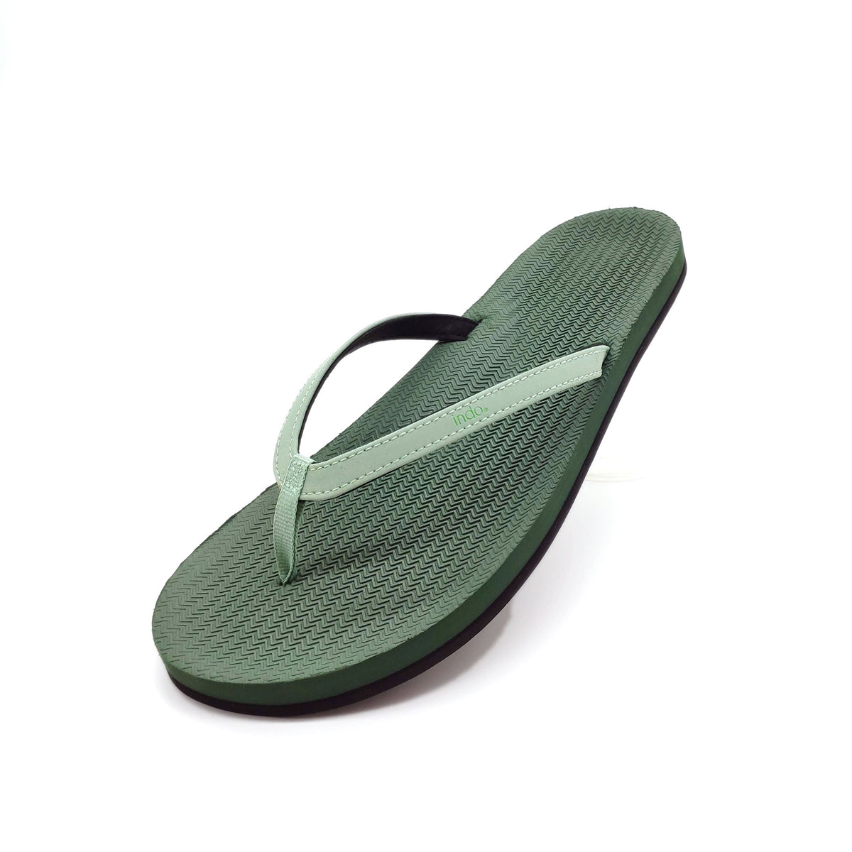 Women's Flip Flops Colour Combo Leaf/Leaf Light - Lightweight, durable, waterproof, comfortable. Sustainably made vegan shoes using natural rubber and recycled tires