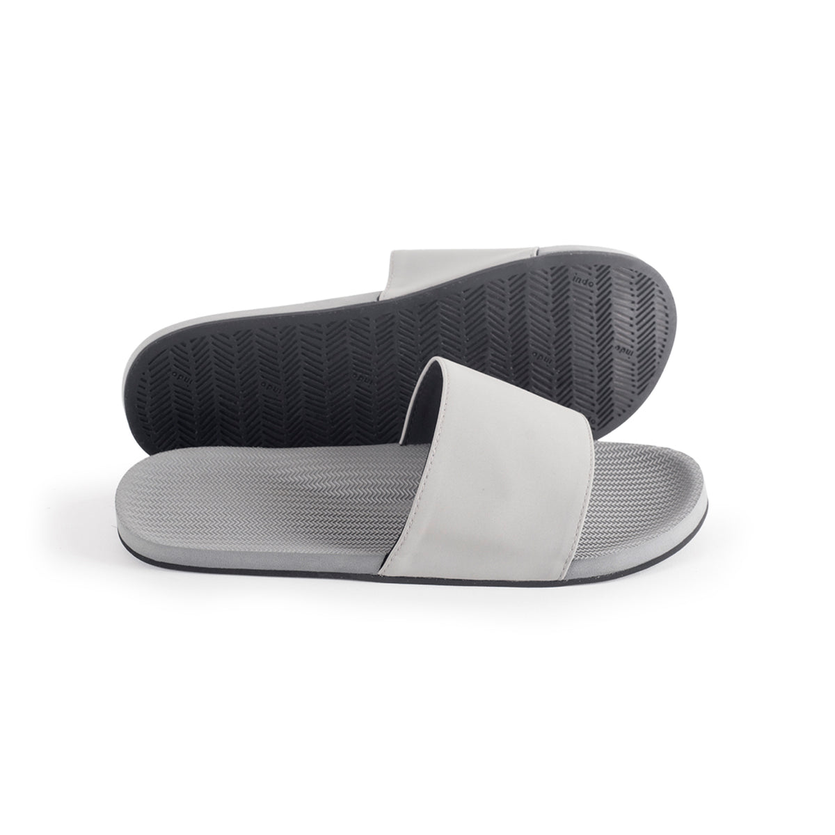 Men's Slides Granite - Lightweight, durable, waterproof, comfortable. Sustainably made vegan shoes using natural rubber and recycled tires