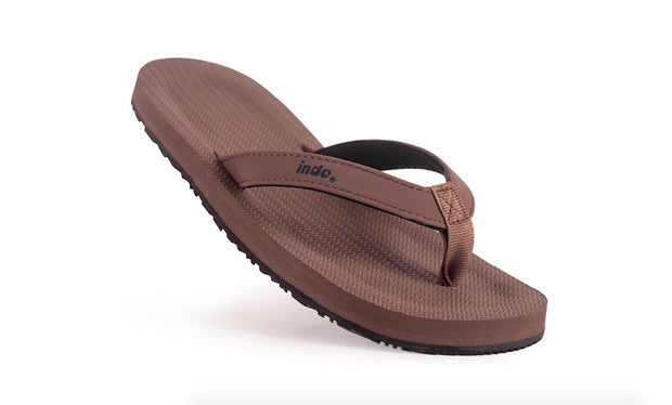 Grom's Flip Flops Soil - Lightweight, durable, waterproof, comfortable. Sustainably made vegan shoes using natural rubber and recycled tires