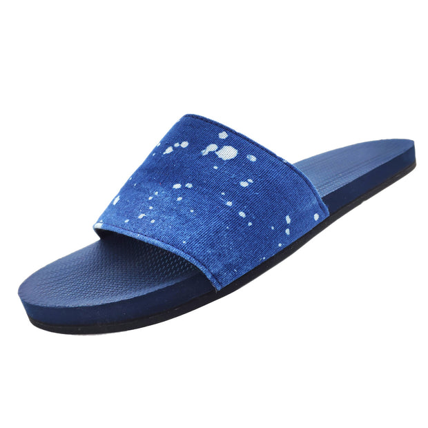 Women's ESSNTLS Slides - Shore/Natural Indigo Drips