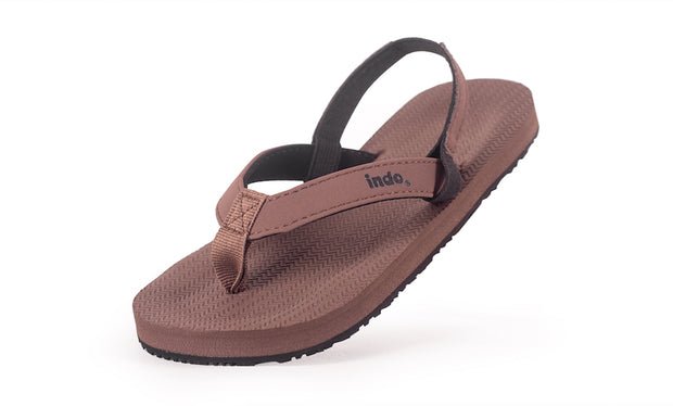 Toddler's Flip Flops Soil - Lightweight, durable, waterproof, comfortable. Sustainably made vegan shoes using natural rubber and recycled tires